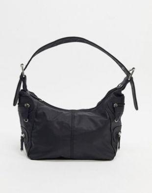 ASOS DESIGN - Sac utilitaire porté épaule style 90's - Noir | ASOS