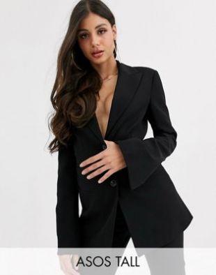 ASOS DESIGN Tall - pop - Blazer - Noir | ASOS