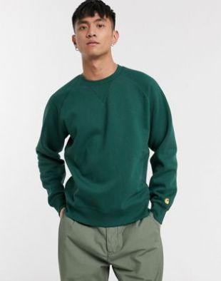 Carhartt WIP - Chase - Sweat-shirt - Vert   ASOS