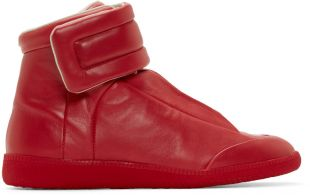 Maison Margiela  Red Future High-Top Sneakers  52168M000007