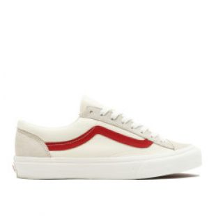 The Vans Style 36 Marshmallow Racing Red in the clip FXXK IT