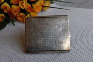 vintage Alpaca Cigarette Case . Caisse de cigarette allemande de tonalité argentée de collection. Cadeau. Argent Mark Kraft Alpaca Cas de cigarette des années 1920