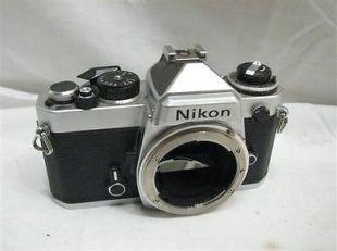Vintage Nikon Model FE 35mm SLR Film Camera Silver/Chrome Body   | eBay