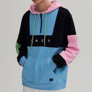 Colour panel hoodie