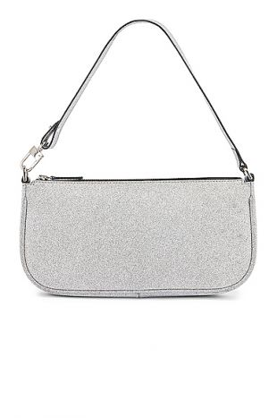 Silver Glitter Leather Bag
