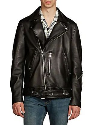 Nate Clean Lamb Leather Moto Jacket