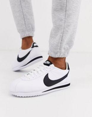 Nike - Cortez - Baskets classiques en cuir - Blanc et noir   ASOS