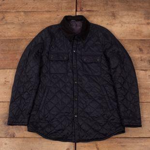 """Hommes vintage Barbour Akenside Navy Blue Quilted Outdoor Jacket Large 44"""" R15992"""