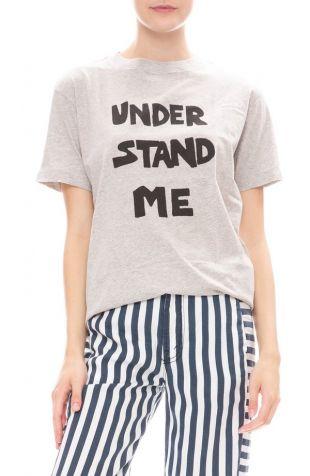 BELLA FREUD Understand Me T-Shirt - Grey Marl on Garmentory