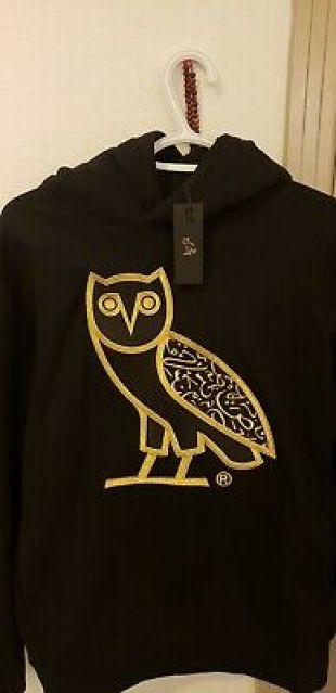 October's Very Own OG OVO Calligraphy Owl Hoodie Drake