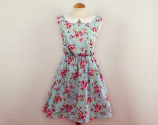 Robe fleurie col Claudine robe robe d'été   conception de votre propre robe
