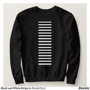 Black and White Stripe Sweatshirt