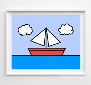 les simpson peinture   voilier