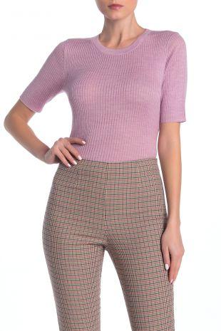 Crew Neck Short Sleeve Sweater