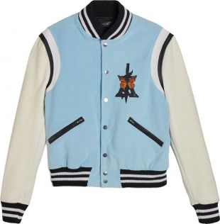 Butterfly Embroidered Varsity Jacket