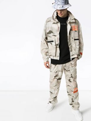 Grey Camo Print Jacket