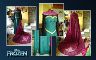 Costume cosplay ELSA Frozen couronnement