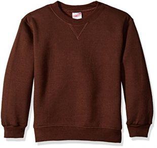 Soffe Boys' Big Heavyweight Sweatshirt, Brown, Small