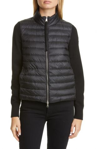 Moncler Quilted Down & Wool Short Jacket | Nordstrom