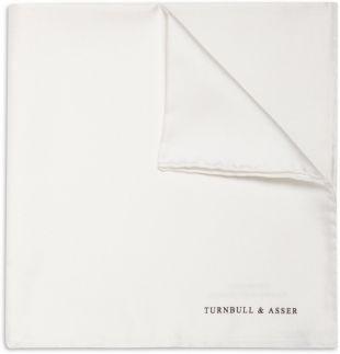 White Silk Pocket Square