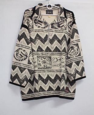 Vintage 90s Aztec Pattern Sweatshirt Hoodie Jumper taille L