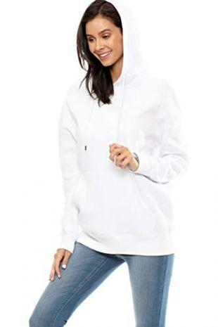 Loose Fit Long Sleeve Fleece Hoodie Pullover
