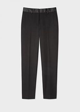 Women's Classic-Fit Black Tuxedo Trousers
