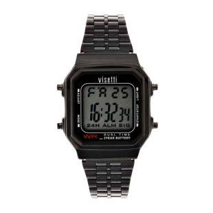 Montre pour hommes. Montre de style rétro. Montre Noire. Montre numérique. Personnalisez la montre pour hommes. Personnalisez la montre pour hommes. Montre en acier inoxydable. imperméable.