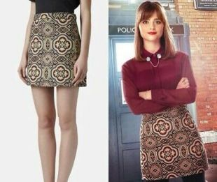 Topshop tapestry skirt size 6