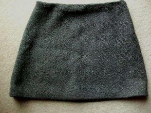 & Other Stories Cosplay Dark Grey Herringbone A-Line Mini Skirt - Size 10 12