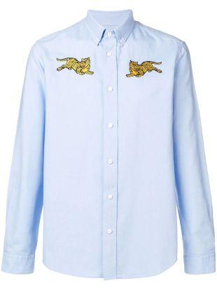 Jumping Tiger button-down shirt