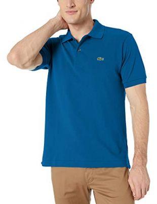 Lacoste Mens Short Sleeve L.12.12 Pique Polo Shirt Polo Shirt, Electric Blue, M