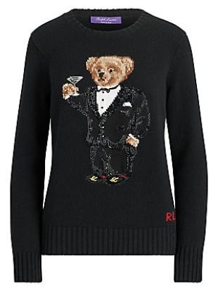 Martini Bear Cashmere Crewneck Sweater