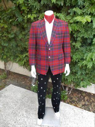 Vintage 1981 Maxime Shoppe Blazer à carreaux Tartan rouge - taille 42
