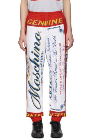 Red & White Budweiser Edition Logo Lounge Pants