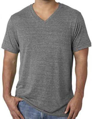 Grey V-Neck Tee Shirt