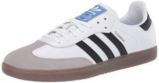 adidas Originals Men's Samba OG Sneaker White/Black/Granite 10.5