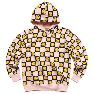 Chinatown Market Smiley Face Checkered Hoodie Worn By Miley Cyrus Instagram March 26 2019 Spotern
