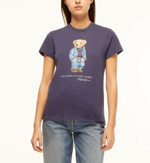 T-shirt droit Bear coton - Polo Ralph Lauren - Galeries Lafayette