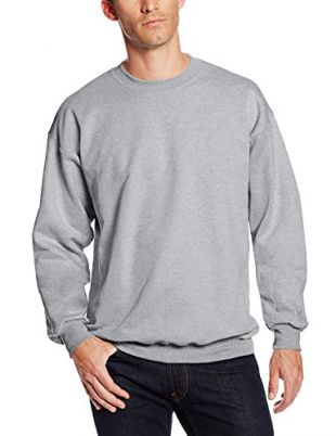 Hanes Men's Ultimate Heavyweight Fleece Sweatshirt, Light Steel, X-Large