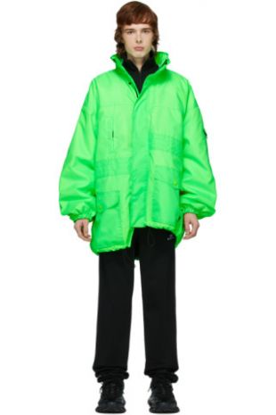 Green Pulled Parka