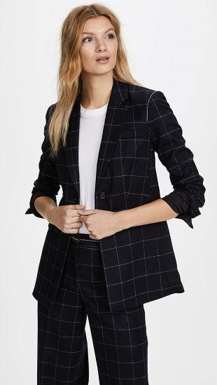 Black Checked Blazer