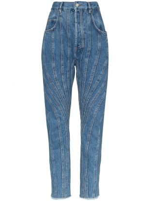 Seam Detail High Waisted Jeans