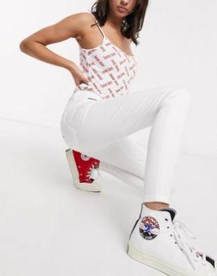 - Sylvia - Jean super skinny - Blanc   ASOS
