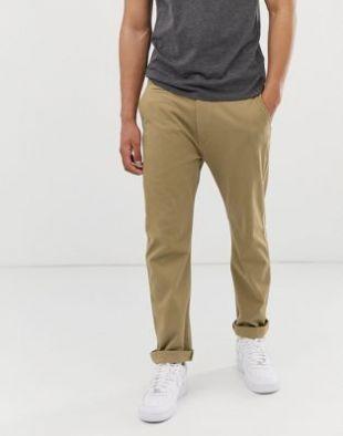 Pantalon chino authentique coupe fuselée classique - Doré moisson