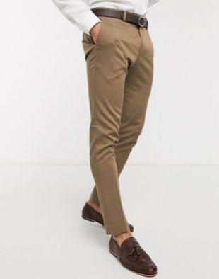 Pantalon de costume slim - Beige