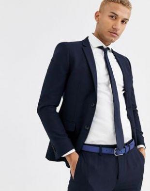 Veste de costume skinny - Bleu marine