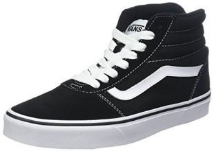 Vans Men''s Ward Hi Top Trainers, (Suede/Canvas) Black/White C4R, 11 UK