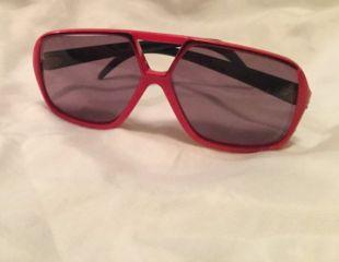 AVIATOR lunettes de soleil 1970 ' s lunettes de soleil vintage grand rouge lentille en plastique oversized polarisée - unisexe - grands yeux - made in France - BOHO CHIC