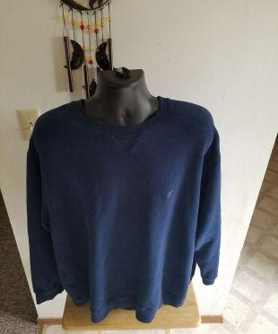 Men's Starter Brand Crew Neck Sweater Navy Blue Size 2XL    eBay
